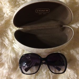 COACH S3010 Black Sunglasses with Hard Case